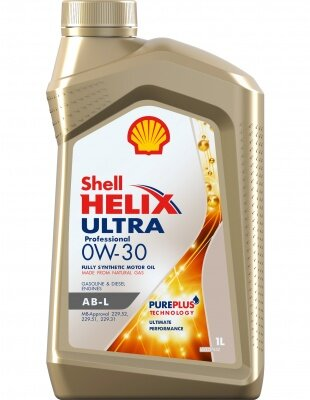 Моторное масло Shell Helix Ultra Professional AB-L 0W-30 (1 л.) 550046413