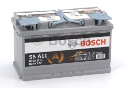 Аккумулятор Bosch S5A 12V 80Ah 800A 315x175x190 о.п. (-+) 0092S5A110
