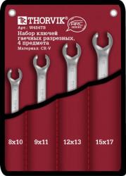 Набор ключей Thorvik 8-17 мм, 4 предмета W4S4TB