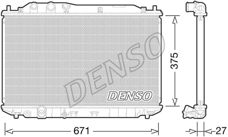 Радиатор Denso DRM40029