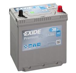 Аккумулятор Exide EA386 38Ah 300A 187x127x220 о.п. (-+) Premium