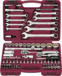 """Набор инструмента Thorvik 1/4"""" 1/2""""DR с головками торцевыми 12-гранными, 82 предмета (52805) UTS008212"""