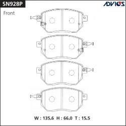Тормозные колодки Advics SN928P