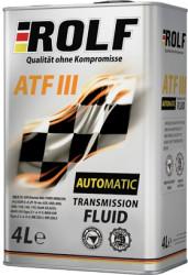 Трансмиссионное масло Rolf ATF III (4 л.) 322245