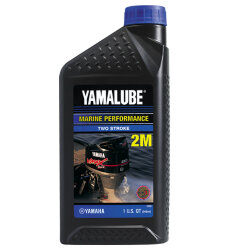 Масло двухтактное Yamaha Yamalube Marine Performance Two Stroke 2M (1 л.) LUB-2STRK-M1-12