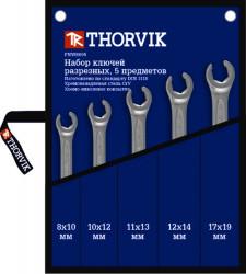 Набор ключей Thorvik 8-19 мм, 5 предметов FNWS005