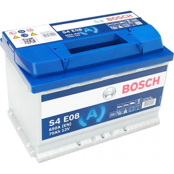 Аккумулятор Bosch S4E 12V 70Ah 650A 0092S4E080