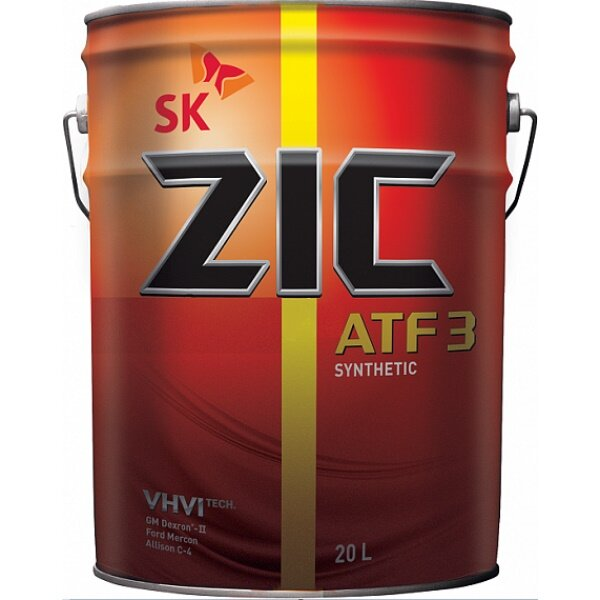 Трансмиссионное масло ZIC ATF 3 (20 л.) 192302