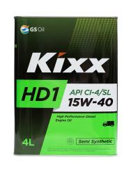 Моторное масло Kixx HD1 15W-40 (4 л.) L201544TE1