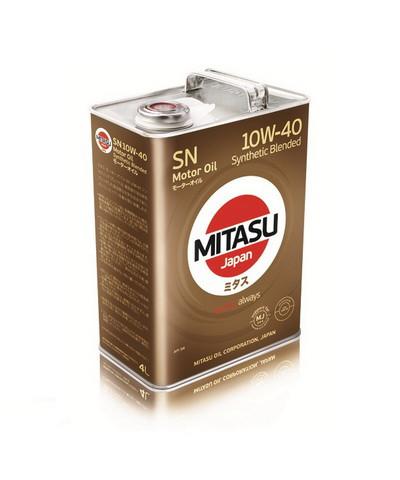 Моторное масло Mitasu MJ-122A Motor Oil SN 10W-40 (4 л.) MJ122A4
