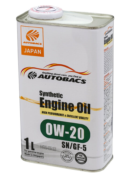 Моторное масло Autobacs Synthetic 0W-20 (1 л.) A00032057