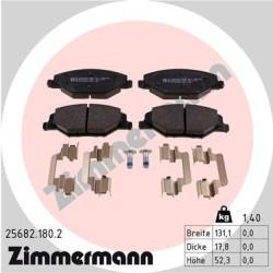 Тормозные колодки Zimmermann 256821802