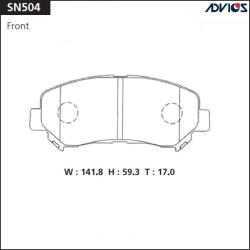 Тормозные колодки Advics SN504