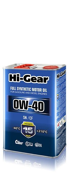 Моторное масло Hi-Gear 0W-40 (4 л.) HG0044