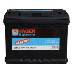 Аккумулятор Hagen (Exide) 55Ah 460A 242x175x190 о.п. (-+) 55559