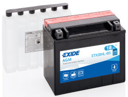 Аккумулятор Exide ETX20HL-BS 18Ah 270A 175x87x155 о.п. (-+) AGM
