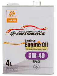 Моторное масло Autobacs Synthetic 5W-40 SP (4 л.) A00032432
