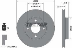 Тормозной диск Textar 92096203