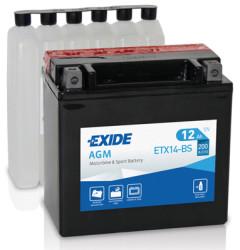 Аккумулятор Exide ETX14-BS 12Ah 200A 150x87x145 п.п. (+-) AGM