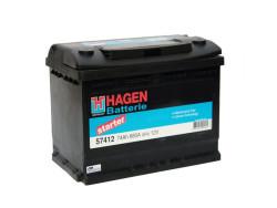 Аккумулятор Hagen (Exide) 74Ah 680A 278x175x190 о.п. (-+) 57412