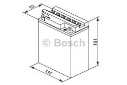 Аккумулятор Bosch M4 12V 12Ah 120A 161x82x136 о.п. (-+) 0092M4F320