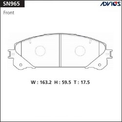Тормозные колодки Advics SN965