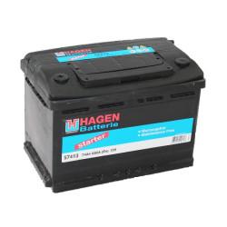 Аккумулятор Hagen (Exide) 74Ah 680A 278x175x190 п.п. (+-) 57413