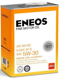 Моторное масло Eneos Fine Motor Oil SN 5W-30 (4 л.) 4943589134833