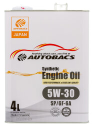 Моторное масло Autobacs Synthetic 5W-30 SP (4 л.) A00032428
