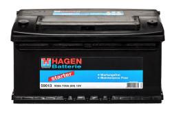 Аккумулятор Hagen (Exide) 90Ah 720A 353x175x190 п.п. (+-) 59013