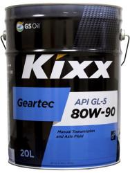 Трансмиссионное масло Kixx Geartec GL-5 80W-90 (20 л.) L2983P20E1
