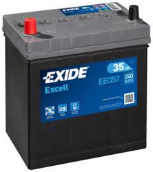 Аккумулятор Exide EB357 35Ah 240A 187x127x220 п.п. (+-) Excell