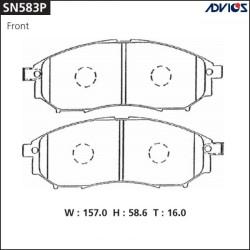 Тормозные колодки Advics SN583P