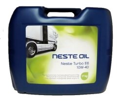 Моторное масло Neste Turbo E6 10W-40 (20 л.) 124220