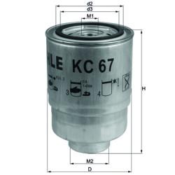 Фильтр топливный Mahle-Knecht KC67
