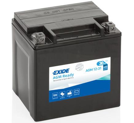 Аккумулятор Exide AGM12-31 30Ah 430A 166x126x175 о.п. (-+) AGM Ready