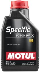 Моторное масло Motul Specific 504.00/507.00 0W-30 (1 л.) 107049