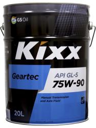 Трансмиссионное масло Kixx Geartec GL-5 75W-90 (20 л.) L2962P20E1