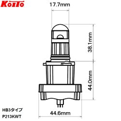 Автолампа Koito HB3 LED 6500K P213KWT