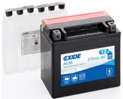 Аккумулятор Exide ETX14L-BS 12Ah 200A 150x87x145 о.п. (-+) AGM