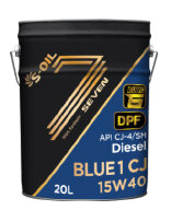 Моторное масло S-Oil Seven BLUE1 CJ 15W-40 (20 л.) BL115W40_20