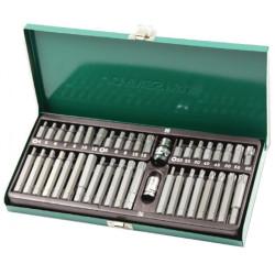Набор вставок Jonnesway (бит 30 и 75 мм) , Торкс Т20-Т60, Spline М5-М12, шестигранных 4-12мм, 42 предмета предмета 47398 S29H4142SM