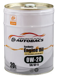 Моторное масло Autobacs Synthetic 0W-20 (20 л.) A00032059