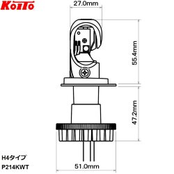 Автолампа Koito H4 LED 6500K P214KWT