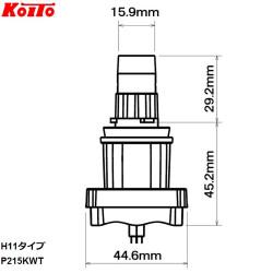Автолампа Koito H11 LED 6500K P215KWT