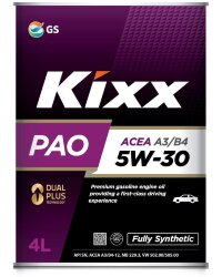 Моторное масло Kixx PAO 5W-30 A3/B4 (4 л.) L209044TE1