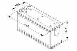 Аккумулятор Bosch T4 12V 140Ah 800A 519x189x223 о.п. (-+) 0092T40760