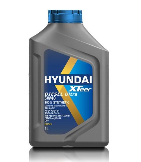 Моторное масло Hyundai (Kia) Xteer Diesel Ultra 5W-40 (1 л.) 1011223