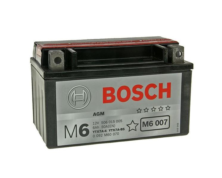 Аккумулятор Bosch M6 12V 6Ah 50A 0092M60070