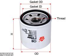Фильтр масляный Sakura C1809
